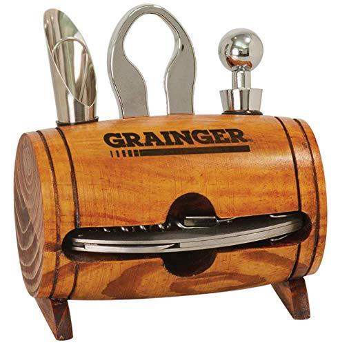 Personalized 4 Piece Wine Tool Set - Barrel Decor