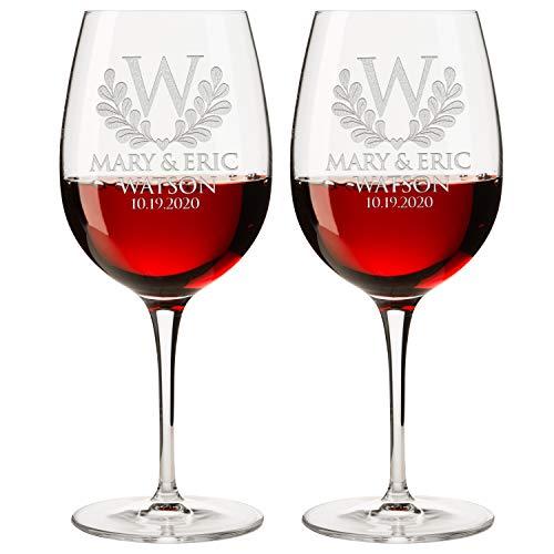Personalized Set of 2 Wine Glass DESIGN-5 WINE GLASS