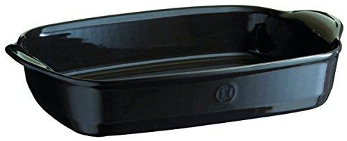 Emile Henry 799654 France Ovenware Ultime Rectangular Baking Dish 165 x 106 Charcoal