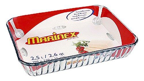 Marinex Rectangular Glass Fluted Baking Dish 11-34 x 9 x 2-18