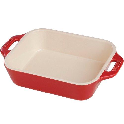Staub Ceramic 13 x 9 Rectangular Baking Dish - Cherry