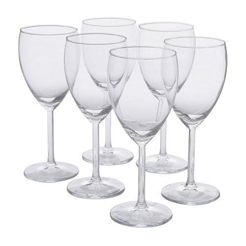 IKEA - SVALKA White wine glass clear glass H7 X6