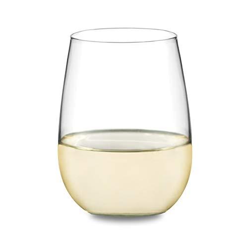Libbey Vina Stemless White Wine Glasses Set of 4
