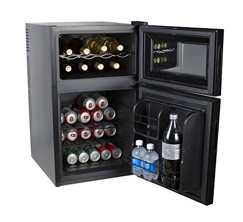 Kalorik Beer Wine Cooler Kalorik Black 2-in-1 Mini-Fridge and Wine Cooler
