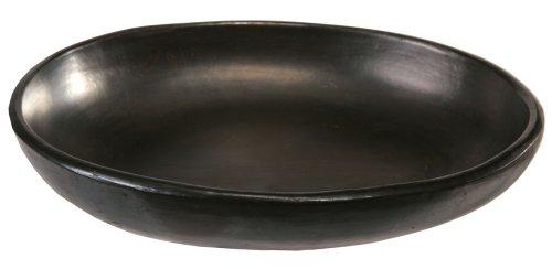 La Chamba Black Clay Oval Dish Large