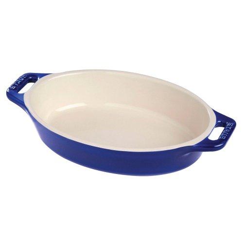 Staub Oval Dish Dark Blue 42 qt - Dark Blue