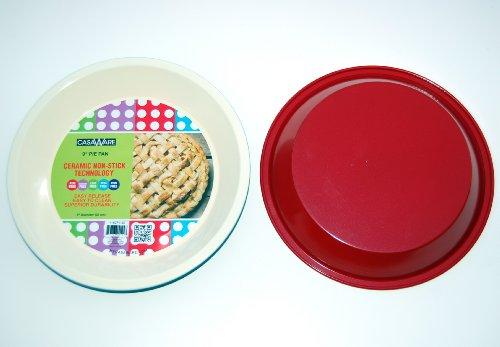 casaWare Ceramic Coated NonStick 9-Inch Pie Pan CreamRed
