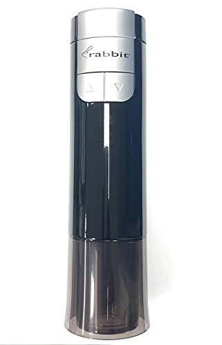 Metrokane Electric Rabbit Rechargeable Corkscrew with Built-in Foil Cutter Black