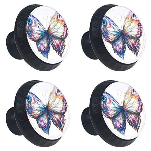 Idealiy Butterfly Drawer Pulls Handles Cabinet Dressing Table Dresser Knob Pull Handle with Screws 4pcs