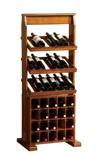Furniture of America Randell Wine Display Stand Antique Oak