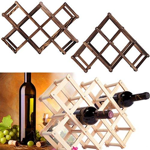 GreenSunTM New Classical Wooden Red Wine Rack 3610 Bottle Holder Mount Kitchen Bar Display Shelf