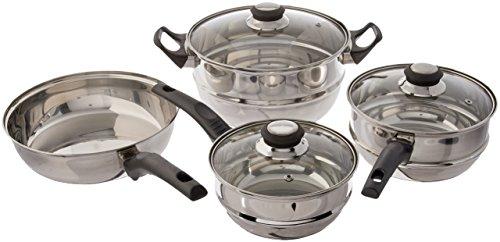 Gibson Sunbeam Ridgeline Stainless Steel 7-Piece Cookware Set