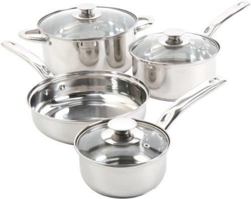 Sunbeam Ansonville 7-Piece Cookware Set Silver