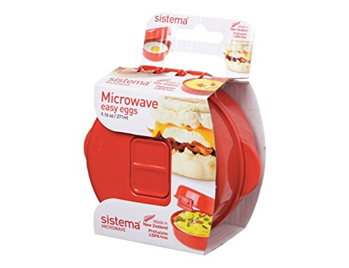 Sistema 1117 Easy Eggs Microwave Cookware Red