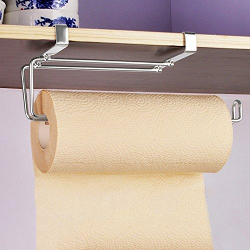 SUS304 Stainless Steel Kitchen Paper Hanger Sink Roll Towel Holder Hanger Organizer Rack Under Cabinet without Drilling