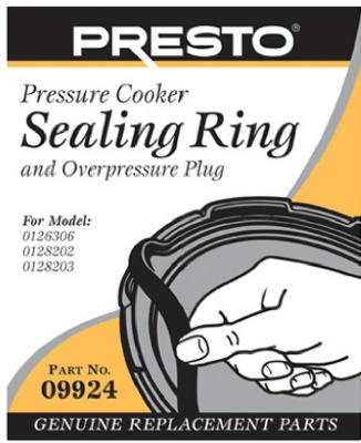 Presto Pressure Cooker Sealing Ring With Over Pressure Plug Only Fits Super Six Model No 01263