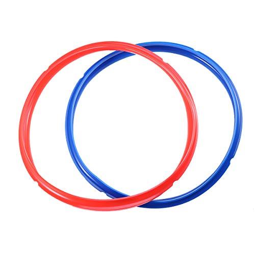 BESTONZON 2 Pack Sealing Ring for 6 QT Pressure Cooker - Seal Lasting BPA-free(RedBlue)