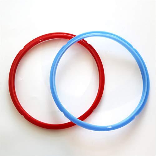 m·kvfa Accessories Pressure Cooker Seals Pot Seals 2 Pieces RedBlue for Pressure Cooker Pot