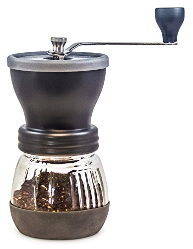 Coffee Grinder From Khaw-fee - High Quality Adjustable Ceramic Burr - Portable - Consistent Grind For Whole Coffee