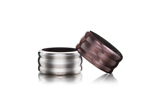 Vacu Vin 18595606 Wine Collar Set of 2 Stainless Steel