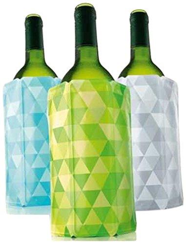 Vacu Vin Rapid Ice Wine Cooler - Set of 3 - Diamond Green Blue and Gray