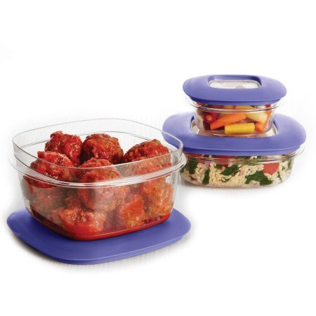 Rubbermaid Premier Food Storage Container 6-Piece Set Iris