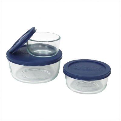Pyrex Simply Store 6-Piece Glass Food Storage Set
