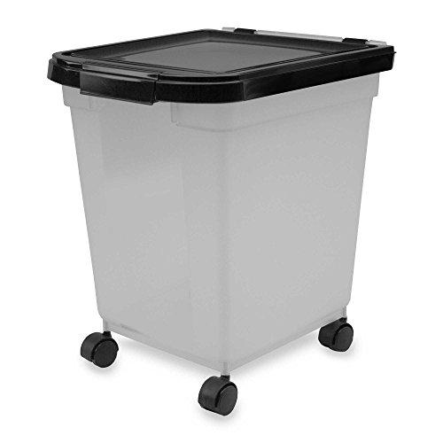 IRIS USA 25-Pound Capacity Airtight Mobile Pet Food Storage Container