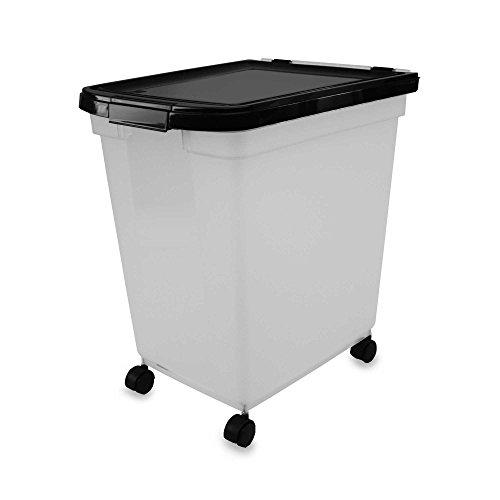 IRIS USA 50-Pound Capacity Airtight Mobile Pet Food Storage Container