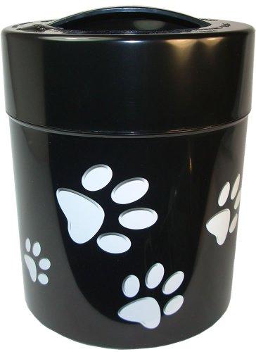 Pawvac 25 Pound Vacuum Sealed Pet Food Storage Container Black Cap BodyWhite Paws