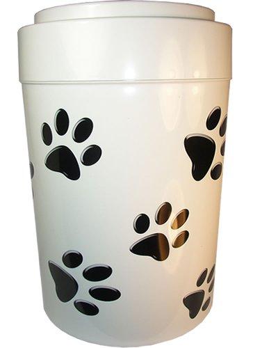 Pawvac 5 Pound Vacuum Sealed Pet Food Storage Container White Cap BodyBlack Paws