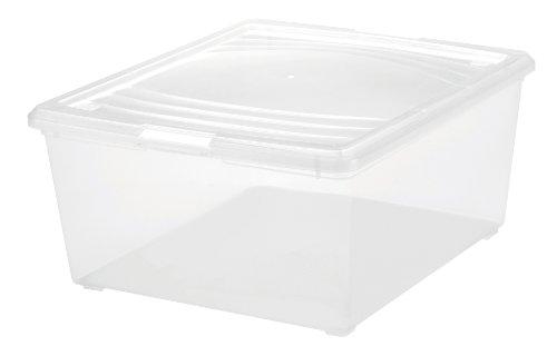 Clear Plastic Storage Box 21 Qt - Set of 4 Clear