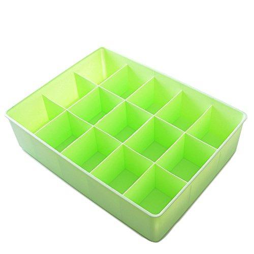 Gloveleya Green Plastic Socks Storage Boxes Closet Drawer Kids Small Toys Organizer