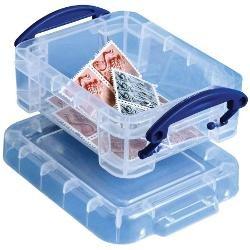 Really Useful BoxR Plastic Storage Box 07 Liter  Clear