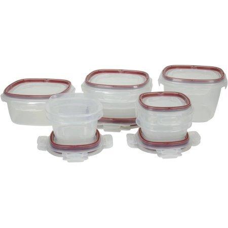 Rubbermaid 20-Piece Food Storage Red Lock-its Set