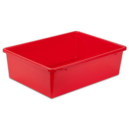 Honey-Can-Do PRT-SRT1602-LGRED Plastic Storage Bin Large Red