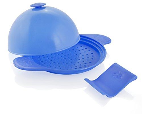 MuxelsSpätzle Wonder Set 5-in-1 Special Swabian noodles board dough scraper steam cooker hood in blue