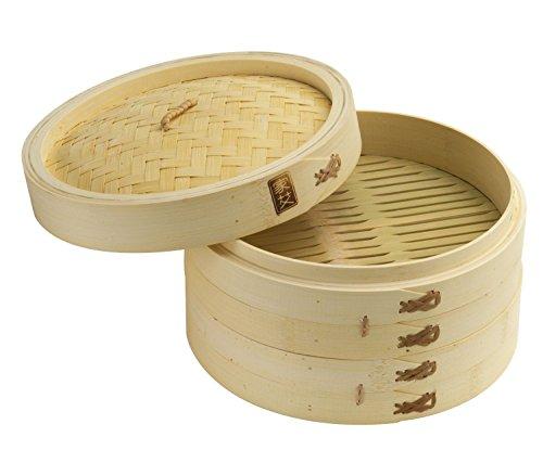 Joyce Chen 26-0013 10-Inch Bamboo Steamer Set 2