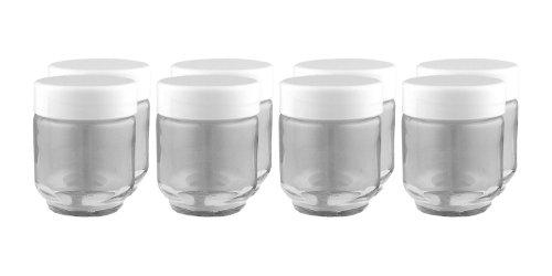 Euro Cuisine GY1920 Glass Jars for Yogurt Maker Set of 8