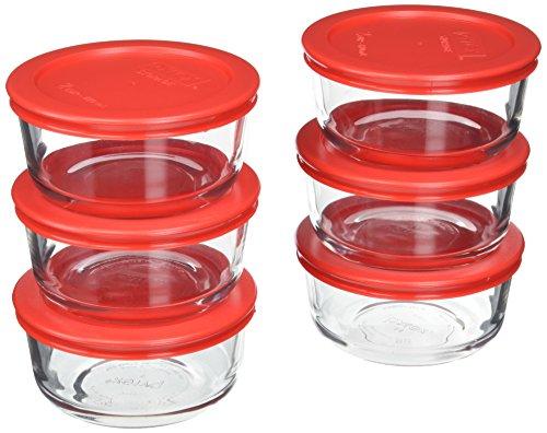 Pyrex 6-Piece Glass Food Storage Set with Lids Glass 12-Piece