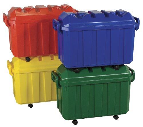 ECR4Kids Stackable Storage Trunks 4-Pack Assorted Colors