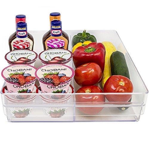 Sorbus Fridge Bins and Freezer Organizer Refrigerator Bins Stackable Storage Containers BPA-Free Drawer Organizers for Refrigerator Freezer and Pantry Storage