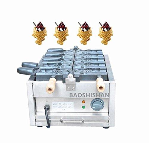 BAOSHISHAN FY-1101C CommercialHome Use Electric 5pcs Ice Cream Fish Waffle Taiyaki Maker Machine Baker Cake Machine 110V