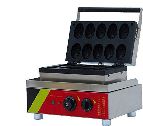 Generic Commercial Use Nonstick 110v 220v Electric 10-cavity Egg Shaped Waffle Baker