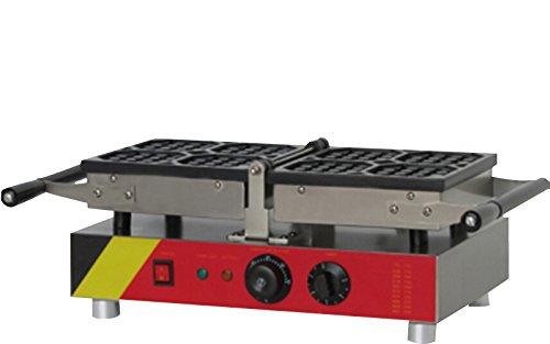 Generic Commercial Use Nonstick 110v 220v Electric 4-slice 180° Opening 35 Belgian Waffle Baker