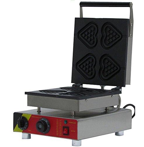 Generic Commercial Use Nonstick 110v 220v Electric 4-slice Heart Waffle Stick Baker