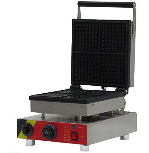 Generic Commercial Use Nonstick 110v 220v Electric 4-slice Square Belgian Waffle Baker