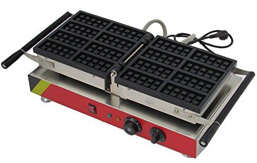 Generic Commercial Use Nonstick 110v 220v Electric 8-slice 180° Opening Belgian Waffle Baker