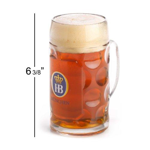 1 X 0.5 Liter Hb Hofbrauhaus Munchen Dimpled Glass Beer Stein