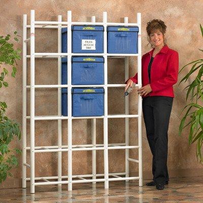 Bin Warehouse DFAE2MBFBW0618 File Box Storage System that Holds 18 File Boxes